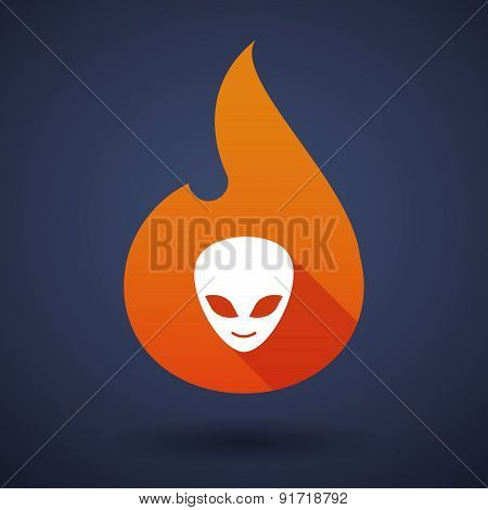Flame Icon With An Alien Face