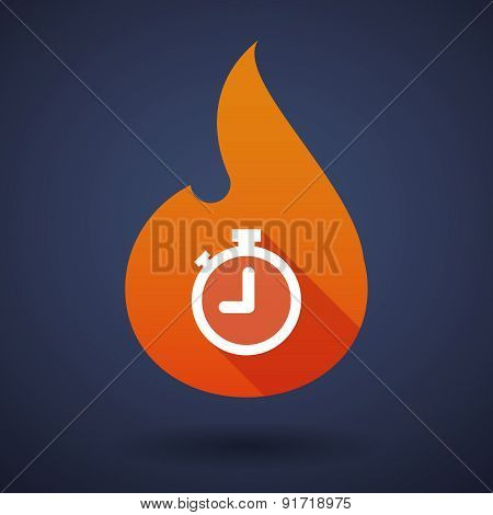 Flame Icon With A Timer