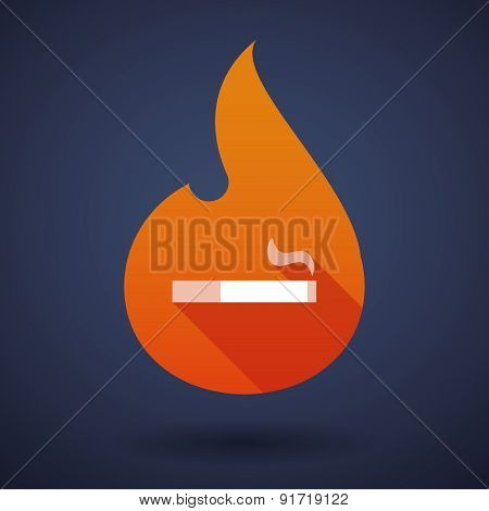 Flame Icon With A Cigarette