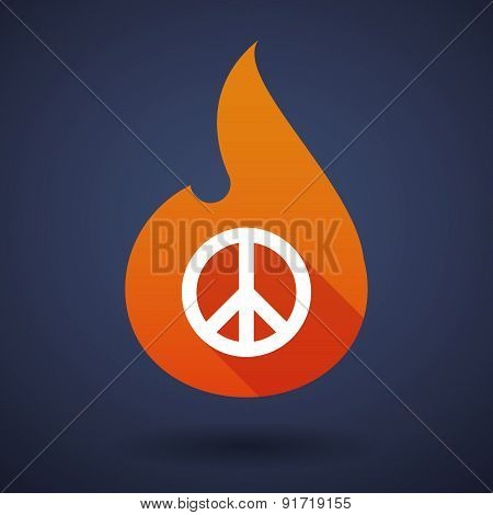 Flame Icon With A Peace Sign