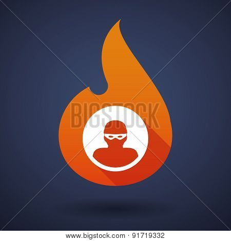 Flame Icon With A Thief
