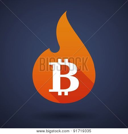 Flame Icon With A Bitcoin Sign