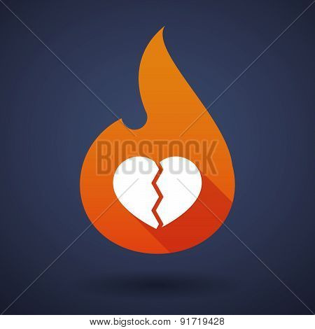Flame Icon With A Heart