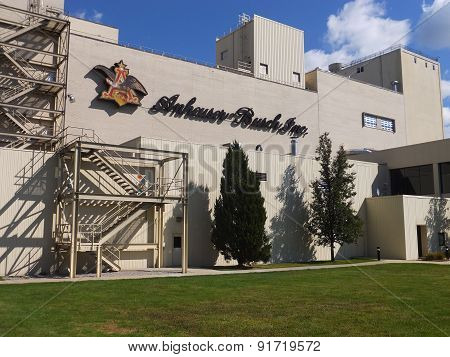 Anheuser-Busch brewery in Merrimack, New Hampshire