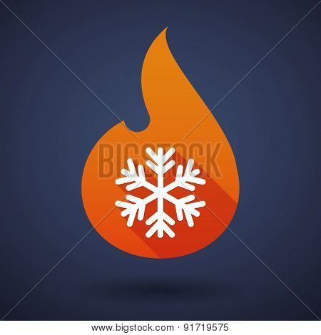 Flame Icon With A Snow Flake