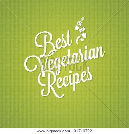 vegetarian food vintage lettering background