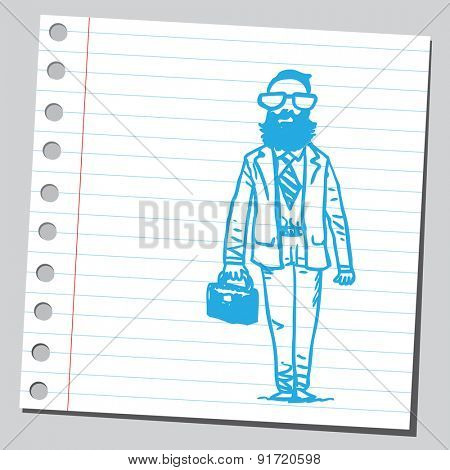 Hipster businessman