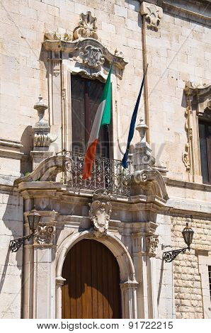 Monte di Pieta Palace. Barletta. Puglia. Italy.