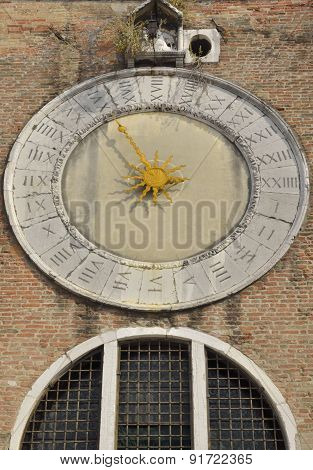Clock Of San Giacomo Di Rialto Church