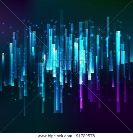 Blue Lighting Horisontal Oriented Linear Banner