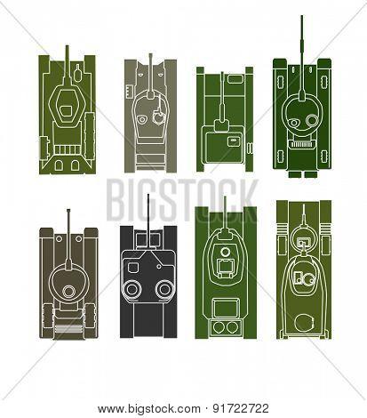 Different tanks. Raster version