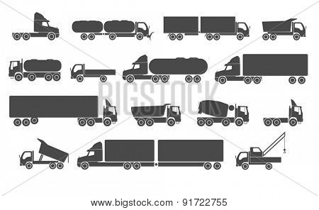 Different trucks. Raster version
