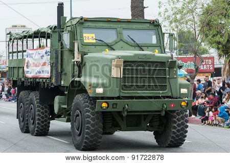 Military Vehicle During Memorial Day Parade