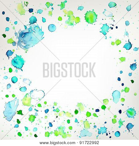 Fresh Colors Hand Drawing Splashes Frame Background