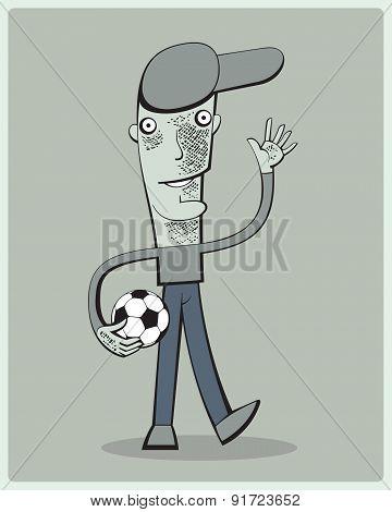 Soccer Player Waving