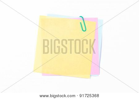Paper Clip With Colorful Sticky Posts