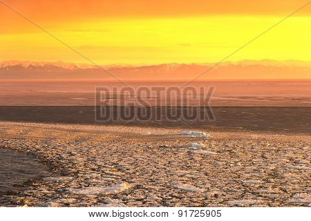 Sunset On The Lake Baikal