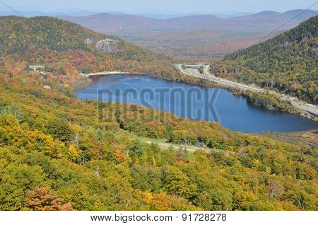 Echo Lake in New Hampshire, USA