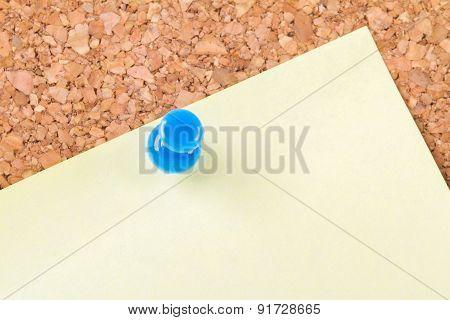 Sticky Post On Cork Board