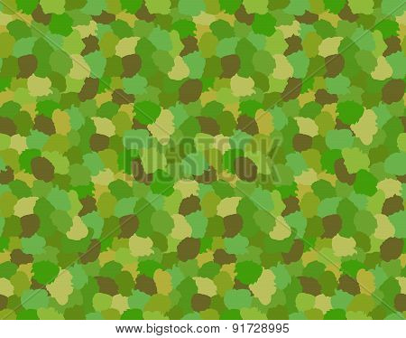 Green Camouflage Military Pattern