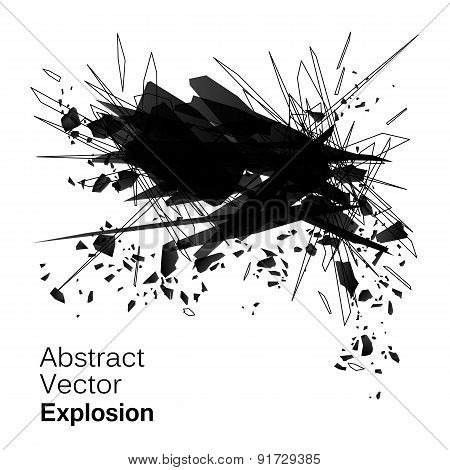 Abstract explosion geometric grunge backgroun