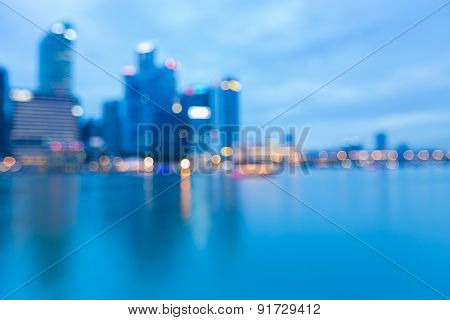 Blur and Bokeh of Singapore City