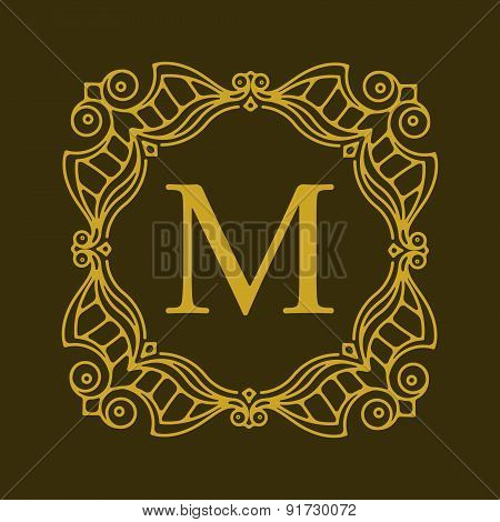 Elegant Style Vector Monogram Design Template. Excellent For Logo Design. Vector Illustration