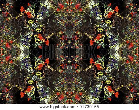Digital Floral Collage Dark Pattern
