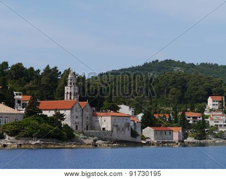 A monastery in Korcula in Croatia
