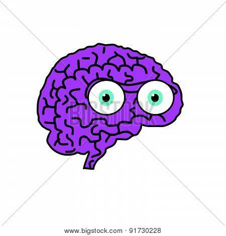 Brain Violet Cartoon Vector