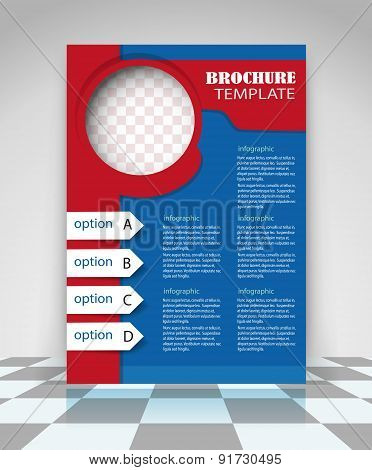 Red And Blue Business Flyer Design