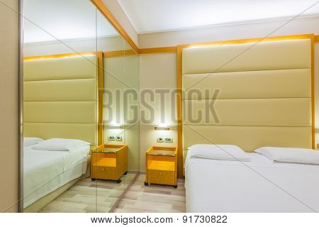 Beautiful and modern home and hotel bedroom interior design.