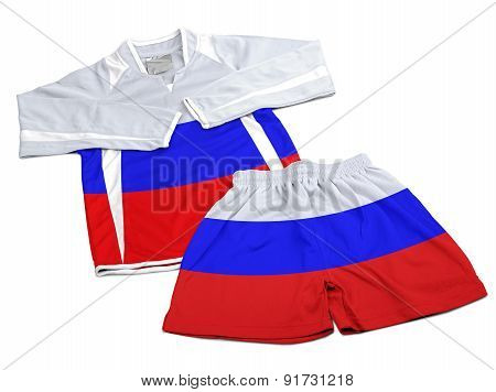 Flag From Russia On Nylon Soccer Sportswear Clothes