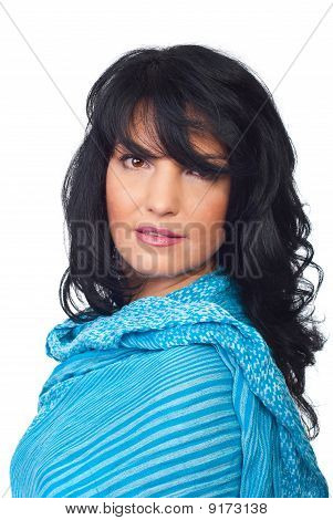 Attractive Woman With Bangs