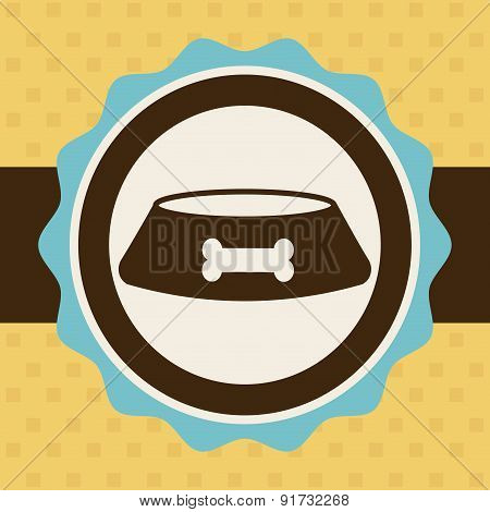 Pet design over yellow background vector illustration