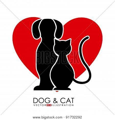 Pet design over white background vector illustration