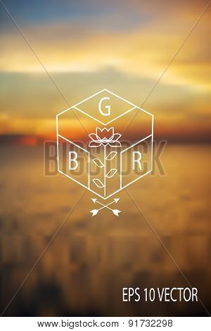 Sunset Blur Background With Logo