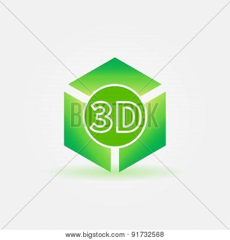 3D print green logo or icon
