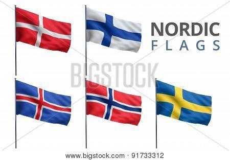 Scandinavian Nordic Flags