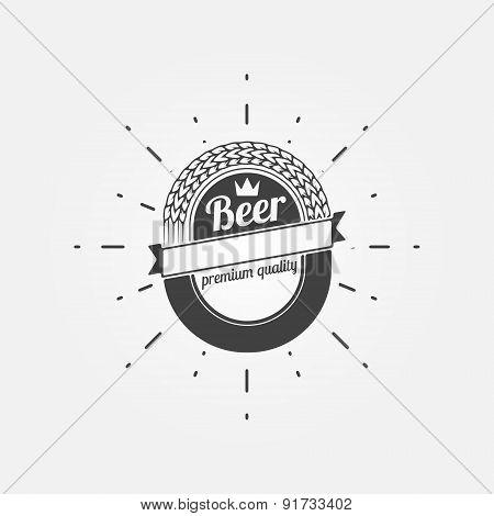 Beer emblem or label