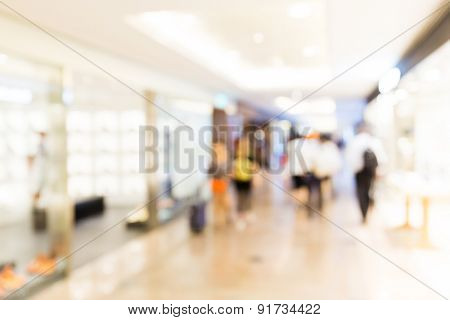Unfocused background of Department store