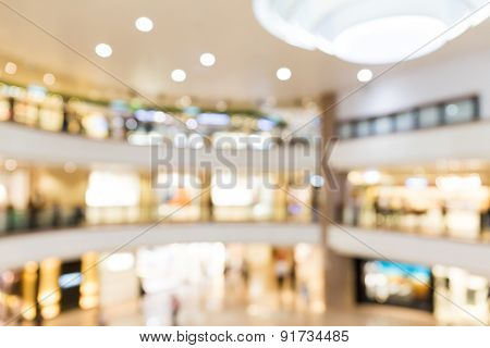 Blur background of Shopping plaza