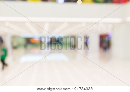 Defocus of Shopping mall for background usage