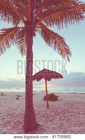Serenity tropical beach,instagram filter