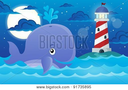 Whale theme image 2 - eps10 vector illustration.