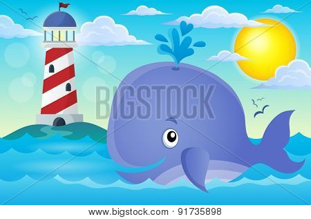 Whale theme image 3 - eps10 vector illustration.