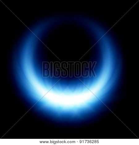 Blue Glow Burning Ring Flare
