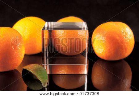 Four tangerines