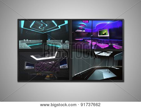 Cctv Monitor For Nightclub