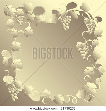 Vector frame in vintage style with vines.